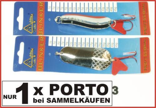Delta Fishing Qualitäts Doppel Blinker Z-Form Hecht Köder Silber 20G Kva