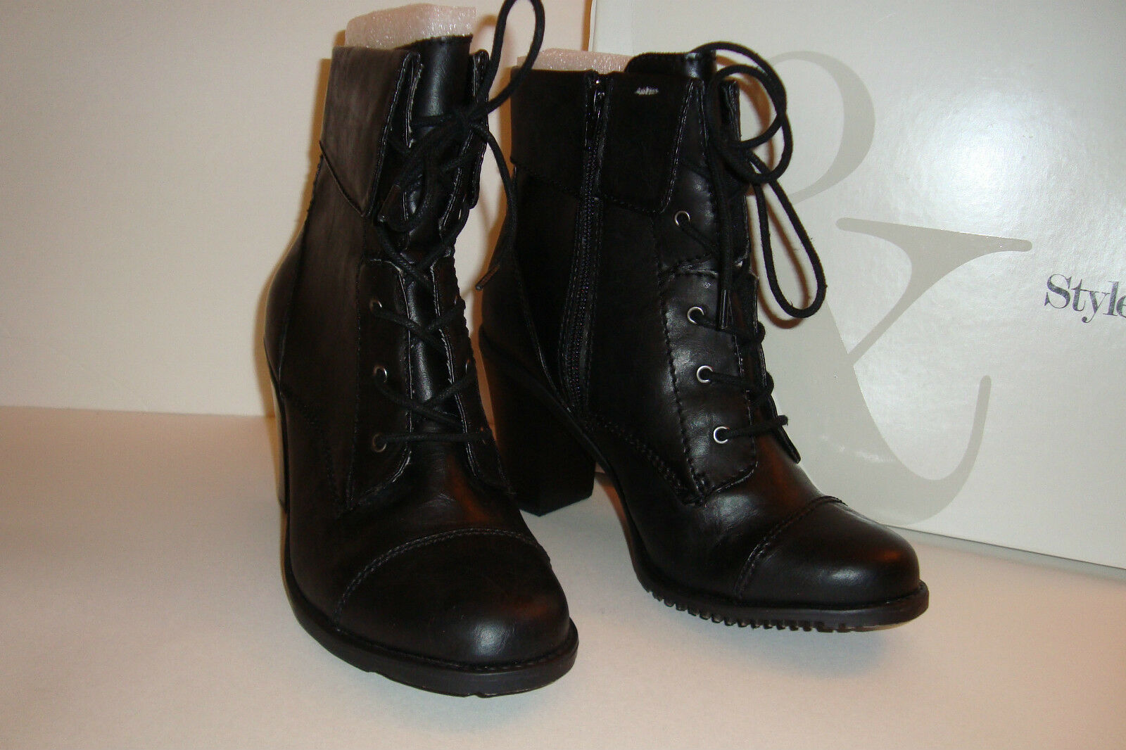 Style & Co Womens NWB Thredtle Black Boots shoes 10 MED NEW