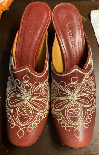 Jessica Bennett Jboheme Cowboy Boot Mules. Sz 8 M