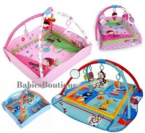 Blue Large Light /& Musical 4in1 Foldable Baby Playmats Play Mat Fitness Gym Nest