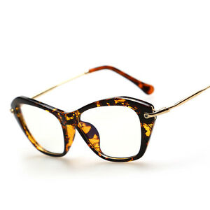 Vintage Retro Cat Eye Style Eyeglasses Frame Clear Lens ...