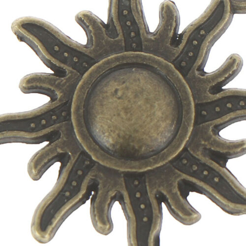10pcs Retro Style Lovely Sun Tibetan Sliver Charms Pendant 16*20mm JCDD
