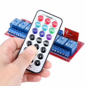 Dual-Trigger-12V-Infrared-Remote-Control-8-Channel-Relay-Module-Bidirectional