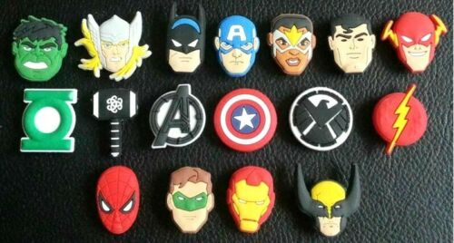 17 x Avengers End Game Shoe Charms PVC Rubber Holey Clogs shoes charm