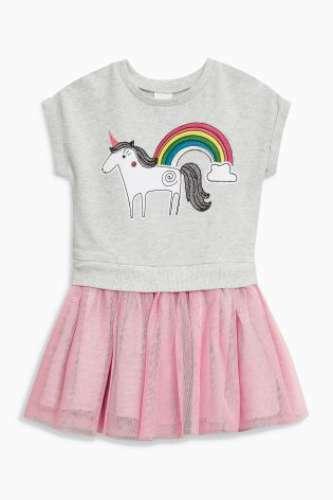 Girls Baby Dress 3-6 Months NEXT Unicorn Attached Tutu Style BNWT Summer