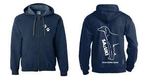 Bright Saluki Full Zipped Dog Breed Hoodie Exclusive Dogeria Design, Activewear Saluki