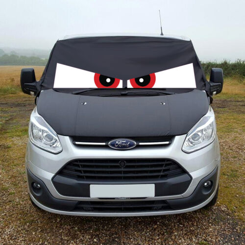 Ford Transit Custom Front Window Screen Cover Black Out Blind Frost Eyes Red