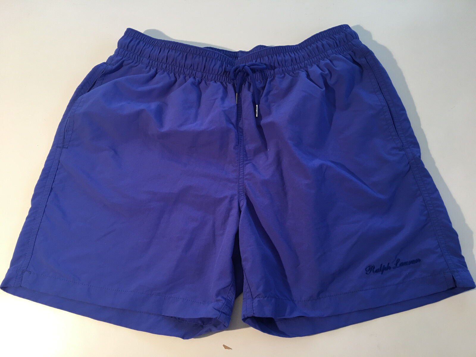 NWT RALPH LAUREN Purple Label Copen bluee Net Liner Swim Shorts Trunks sz  L