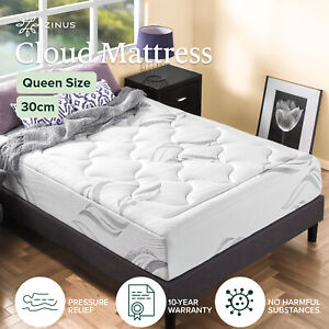 Queen Mattress Cloud Memory Foam 30cm Thickness Cloud Like Comfort - Zinus