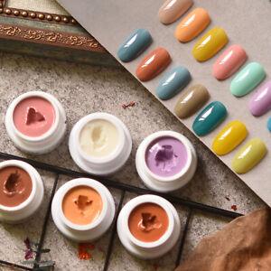 Solid Custard Cream Gel Nail Polish highly pigmented Solid Gel Polish Mud Gel