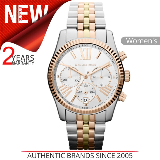 b434b3f1e98c Michael Kors Lexington Reloj Mujer MK5735 │ Cronógrafo Dial │ Tri Pulsera  Tono