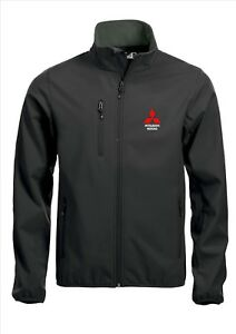 5xl Black Mitsubishi Softshell Embroidered Jacket S Coat Quality Sizes 7wC18w