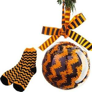 Super Soft, Fuzzy Halloween Spa Socks in Gift Ornament, Womens Size 6-10