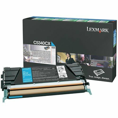 New ! GENUINE Lexmark  C534 Extra High Yield Cyan Toner C5340CX
