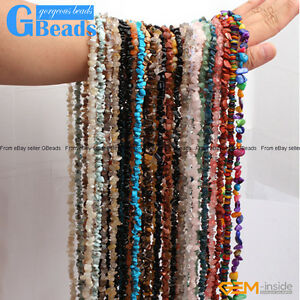 Assorted-Stones-5-8mm-Chips-Stone-Freeform-Nugget-Gravel-Beads-Strand-34-034-amp-15-034