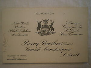 Antique 1901 pan am expostion buffalo ny business card berry bros image is loading antique 1901 pan am expostion buffalo ny business reheart Gallery