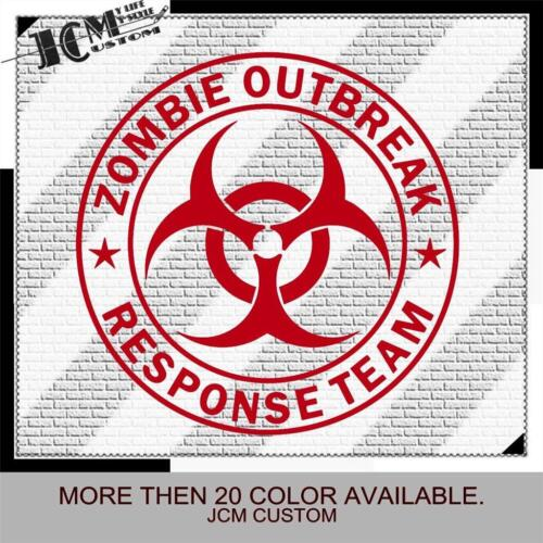 "Zombie Outbreak Response Team Wall Window Vinyl Decal Sticker 22/"" X 22/"""
