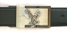 Eagle Landing Belt Buckle and Leather Belt in Gift Tin Ideal Hunting Present