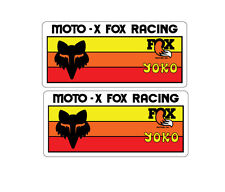 VINTAGE MOTOCROSS MOTO X FOX YOKO 2 sticker decal pack CR YZ KX RM