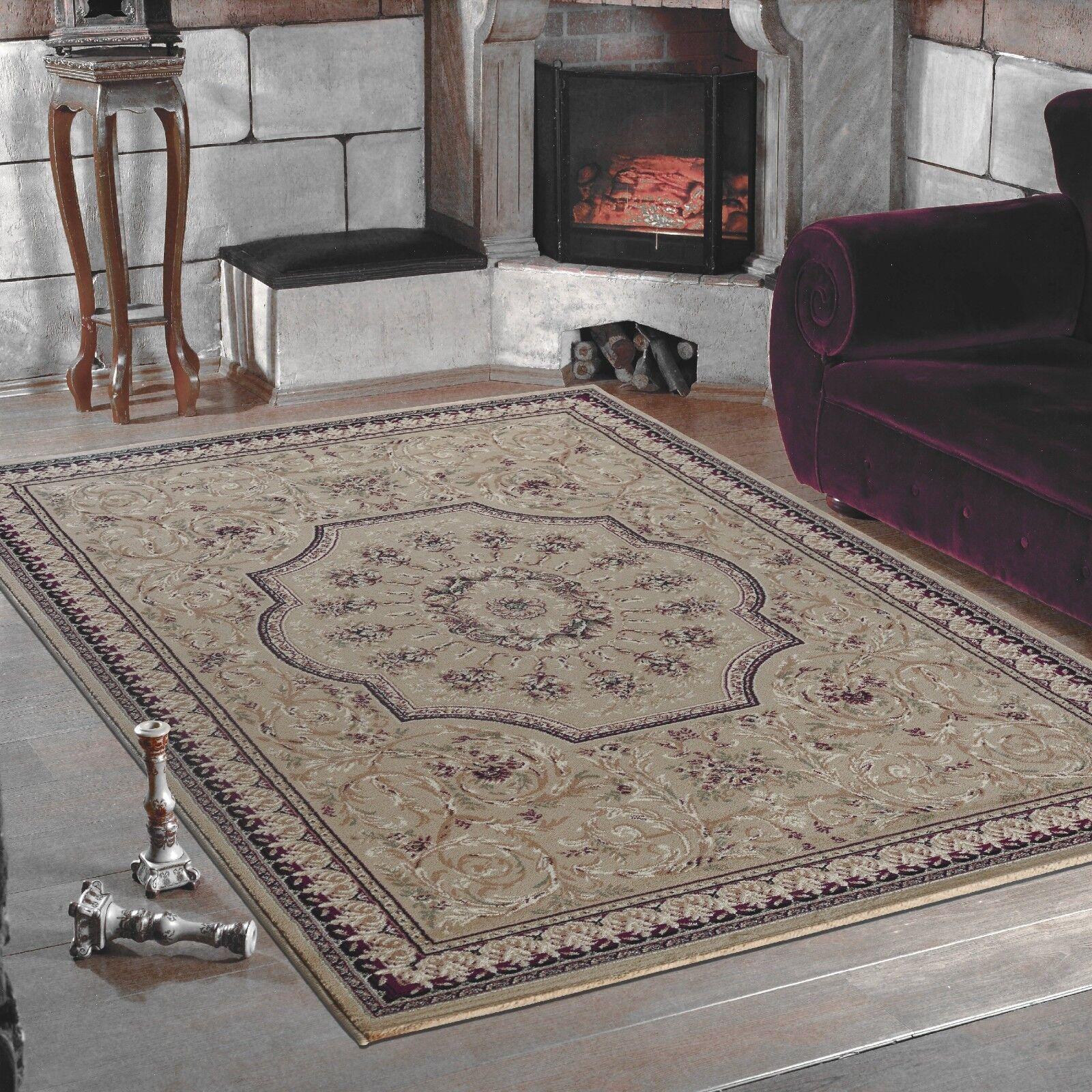 Traditionnel Classique Oriental Qualité Bordé Doux Doux Doux Rouge Beige Tapis Maison | Outlet Store En Ligne  904a84