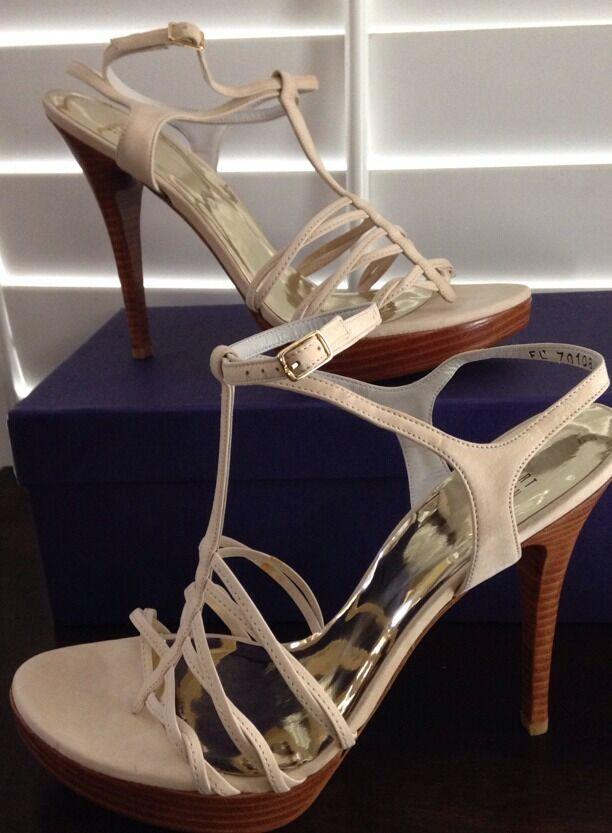 Stuart Weitzman Nude Suede Strappy - Platform Sandals/ Heels - Strappy Size 10 - New 982b24