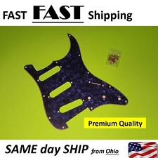 Electric Guitar Pickguard For Fender Stratocaster Strat SSS Blue Pearl 3 Ply