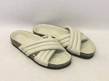 ISABEL MARANT Ladies Cream White Leather Cross Strap Holden Sandals UK4 EU37
