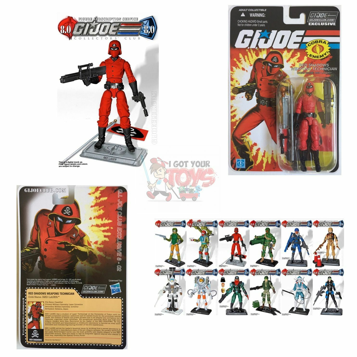 RED LASER (RED SHADOWS) FSS 8.0 GI JOE Club 3.75  Inch 2018 EXCLUSIVE FIGURE