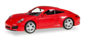 Herpa-028523-Porsche-911-Carrera-2-Coupe-indien-rouge-1-87-modelisme