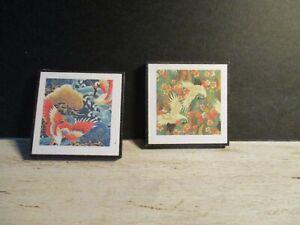 2 Maison De Poupées Miniature Japonais Grues Photos Saw11-afficher Le Titre D'origine Facile à Utiliser