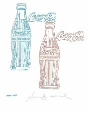 Andy Warhol Signed 1962 Original Proof Lithograph Coca Cola.