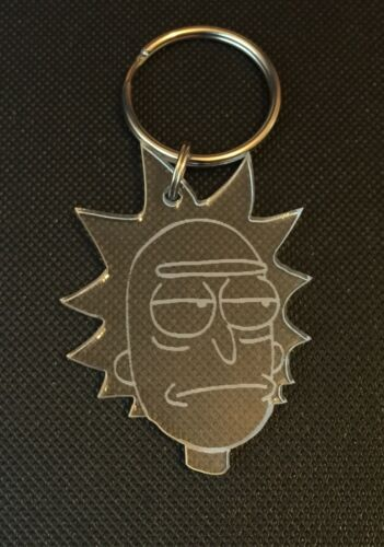 """Rick And Morty """"Rick"""" Keyring Bag Charm Lanyard Keychain Zipper Gift In Clear"""