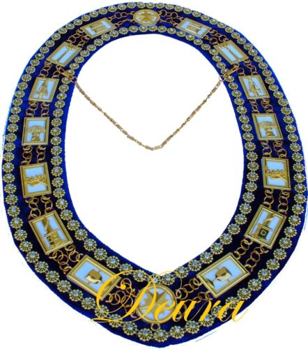 Masonic Collar DELUXE OES Order of EASTERN Star PURPLE Backing DMR-900GPWRS