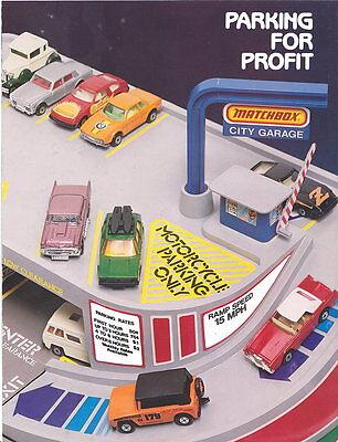 """Matchbox original """"Parking for Profit"""" dealer promo leaflet USA 1980"""