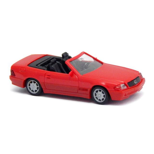 1:87 Schuco mercedes 500 sl Convertible Black New en Premium-modelcars
