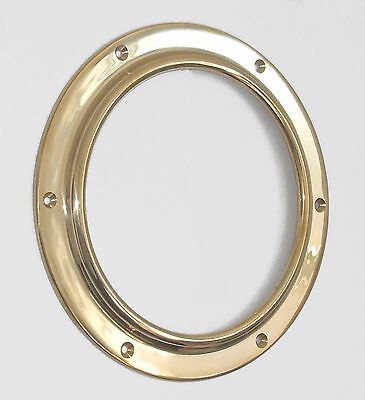 "Canal boat PLAIN GLASS to suit 11/"" brass porthole   PG052"