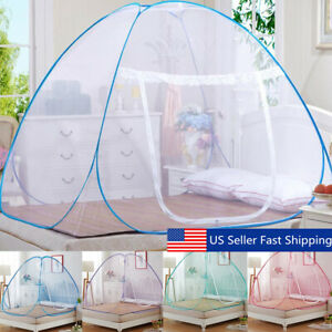 1-8m-Foldable-Automatic-Installation-Mosquito-Net-Yurt-Canopy-Pop-Up-Tent-w-Bag