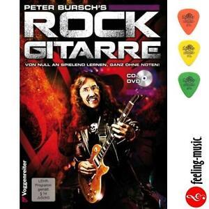 Peter-Bursch-039-s-Rock-Gitarre-mit-CD-Peter-Bursch-Voggenreiter-3-Plektren