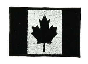 CANADA-BLACK-CANADIAN-FLAG-PATCH-Patches-backpack-BADGE-IRON-ON-EMBROIDERED