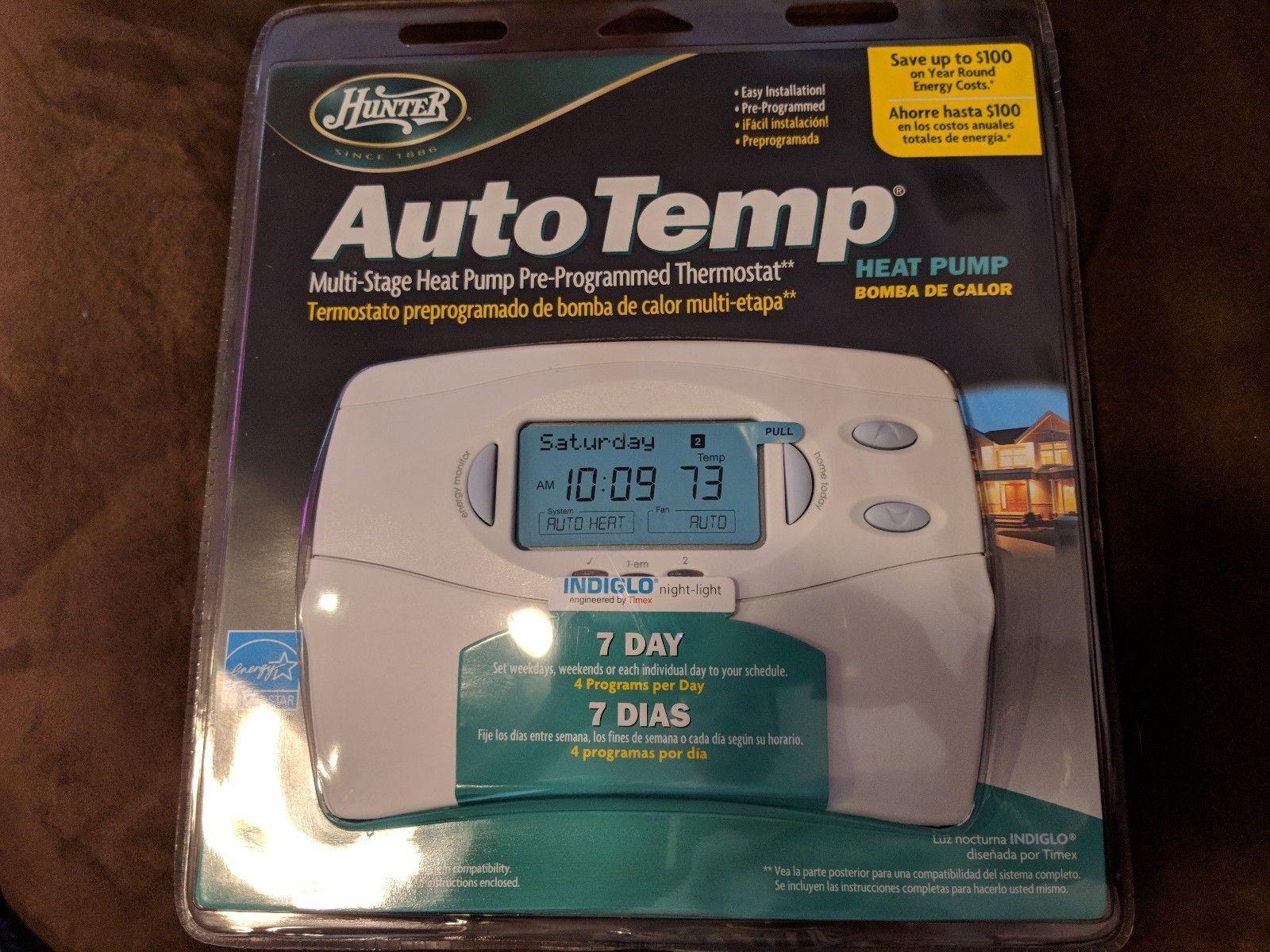 Hunter Model 44760 Multi Stage Programmable Heat Pump Thermostat Ebay 44155c Wiring Diagram Stock Photo