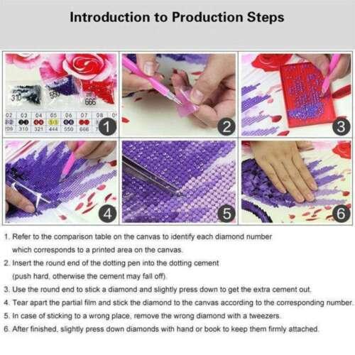 Embroidery Decor Stitch Diamond Full Drill Tiger Kits Art Painting Cross DIY 5D