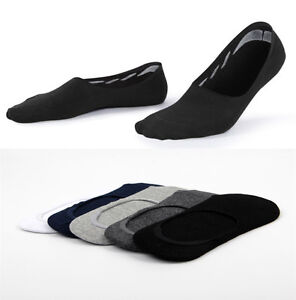 5-10-Pairs-Mens-Cotton-Loafer-Boat-Sock-Non-Slip-Invisible-Low-Cut-No-Show-Socks