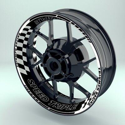 "Beducht Felgenaufkleber Motorrad Premium Wheelsticker Wheelskins""triumph Speedtriplev2"""
