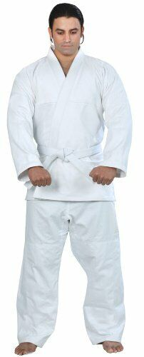 Woldorf USA BJJ uniform jiu jitsu gi student in WHITE color NO LOGO