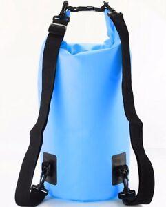 8e9581ab08ee Image is loading BLUE-Waterproof-15L-Dry-Bag-2xSHOULDER-STRAP-Storage-