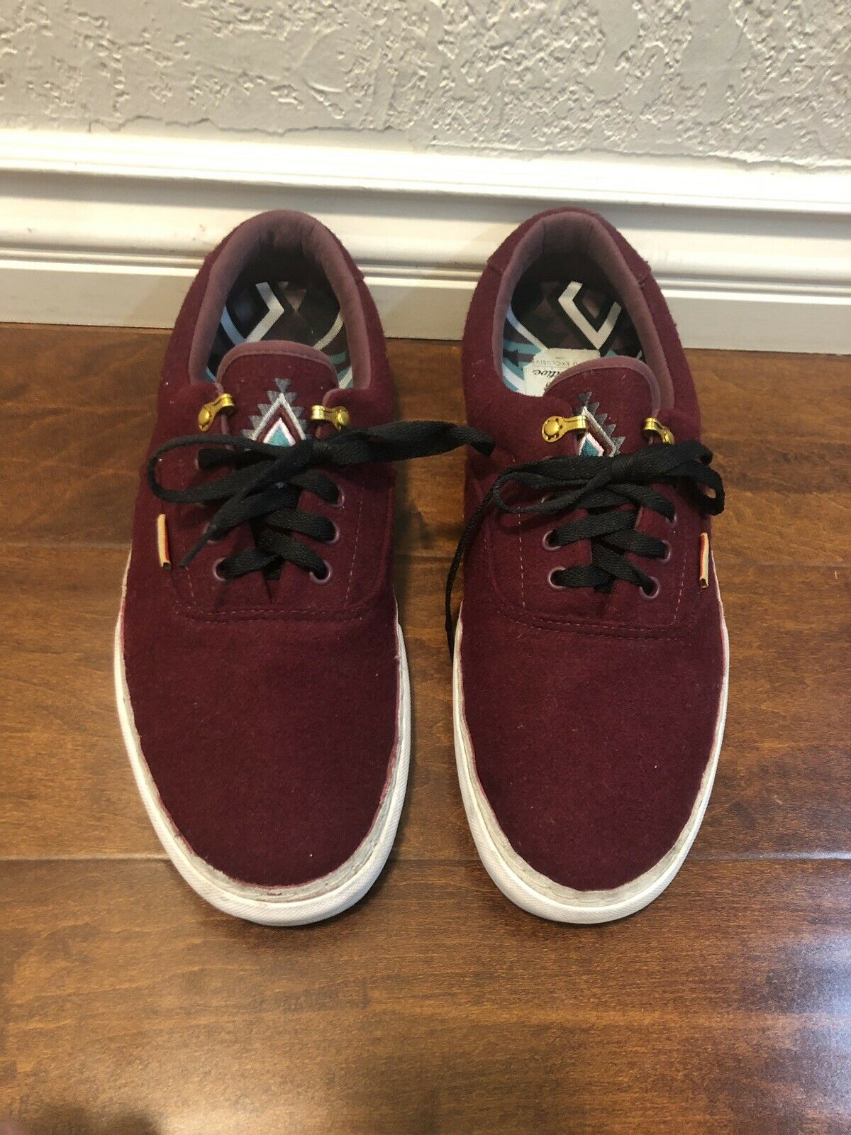 Limited Vans shoes Era 46 Burgundy Red Primitive Pro Native American Sz 13 US