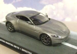 DIECAST-1-43-BOND-IN-MOTION-JAMES-BOND-007-ASTON-MARTIN-DB10-FROM-SPECTRE-SILVER
