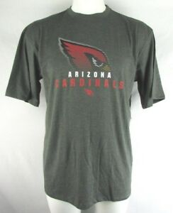 Arizona-Cardinals-Men-039-s-Gray-Team-Apparel-Short-Sleeve-T-Shirt-NFL