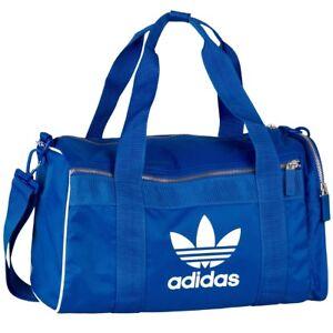 b156640a50b9 Das Bild wird geladen Adidas-adicolor-Duffelbag-M-Tasche-Reisetasche- Sporttasche-bluebird-