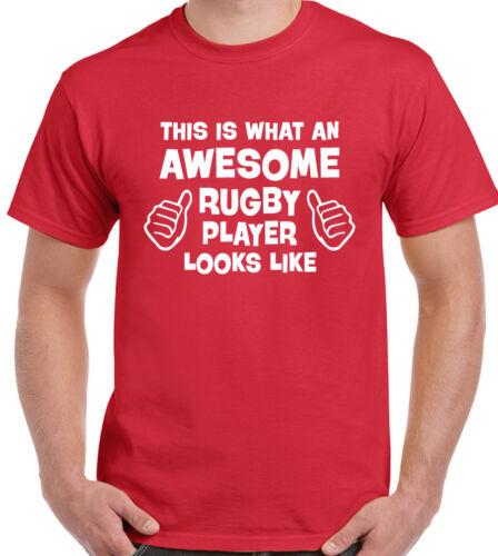 Questo è ciò che una fantastica rugby player assomiglia Uomo Divertente T-SHIRT Inghilterra GALLES